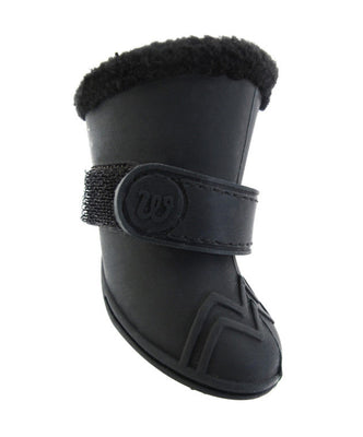 Wellies Fleece Lined Dog Boots - Black
