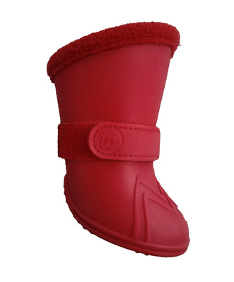 Wellies Fleece Lined Dog Boots - Red