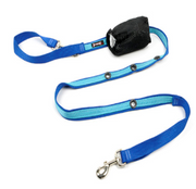"Smoochy Poochy - 2 Tone - Hands - Free Leash - 5/8"" x 6' - Blue/Torquoise"