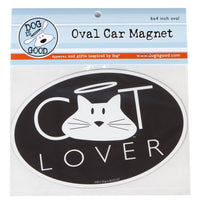 Dog Is Good-Oval Car Magnet- Cat Lover SALE