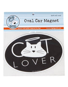 Dog Is Good-Oval Car Magnet- Cat Lover