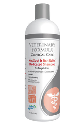 veterinary formula hot spot itch relief medicated shampoo dog cat