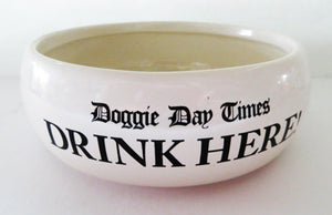 Doggie Day Times - Dog Water Bowl