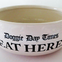 Doggie Day Times - Dog Food Bowl