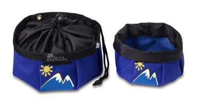 Doggles - Sierra Dog Supply - Travel Bowl - Blue Mountain