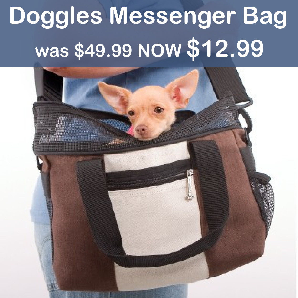 Doggles Messenger Bag SALE
