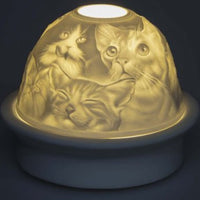 Dreamerzzz - Porcelain Dome Night Light - Cats 1
