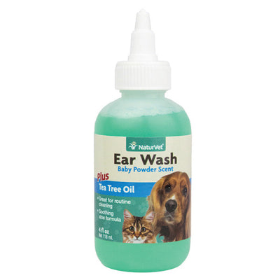 NaturVet Ear Wash - Baby Powder Scent - 4oz