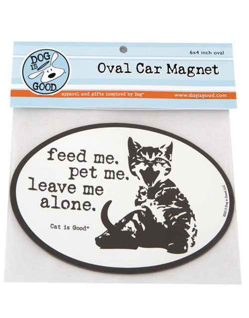 Dog Is Good- Oval Car Magnet - Feed Me SALE
