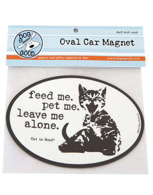 Dog Is Good- Oval Car Magnet - Feed Me
