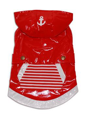 Fetchwear Red Raincoat for Dogs - Top
