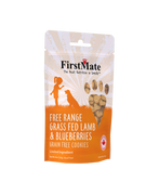 FirstMate Grass Feb Lamb Blueberry Treats 8oz