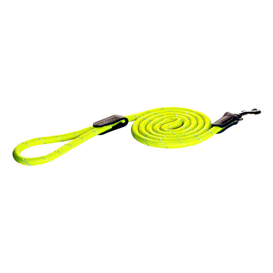 Rogz - Rope - Fixed Lead - 6ft - DayGlo
