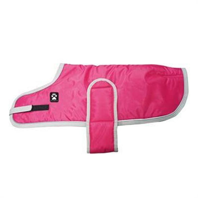 Shedrow K9 Tundra Dog Coat - Hot Pink with Light Grey Trim SALE