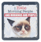 "Grumpy Cat Magnet 3"" W. x 3"" H - ""I Hate Morning People"""