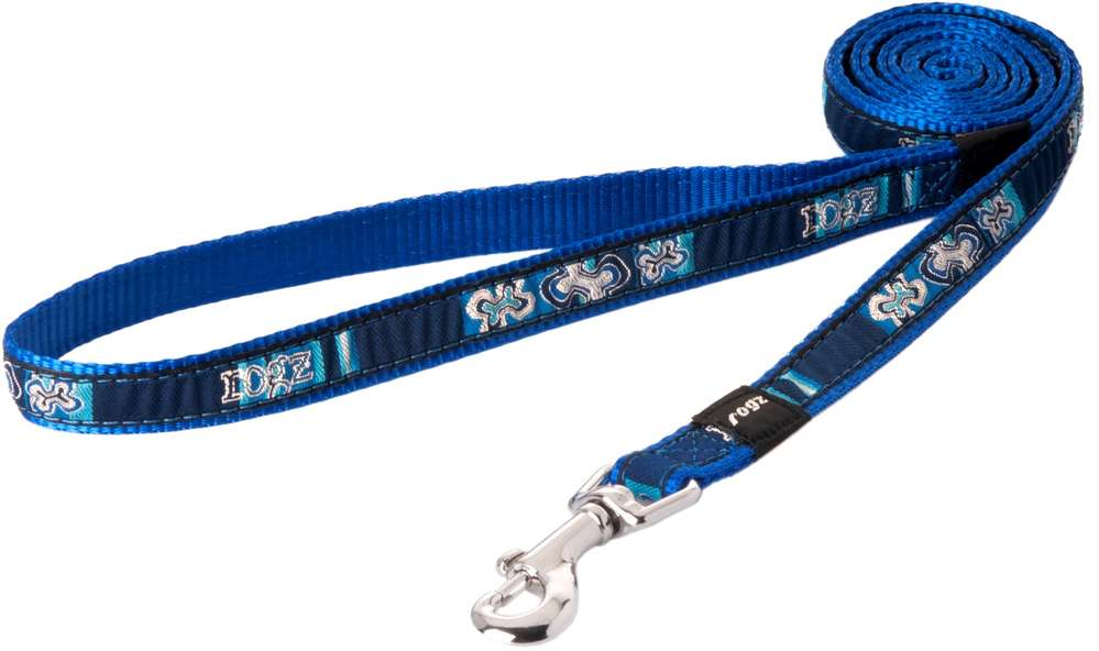 Rogz - Beach Bum Dog Lead - Indigo Bones - Large SALE