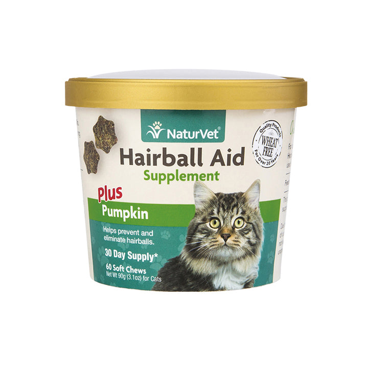 NaturVet - Hairball Aid with Pumpkin