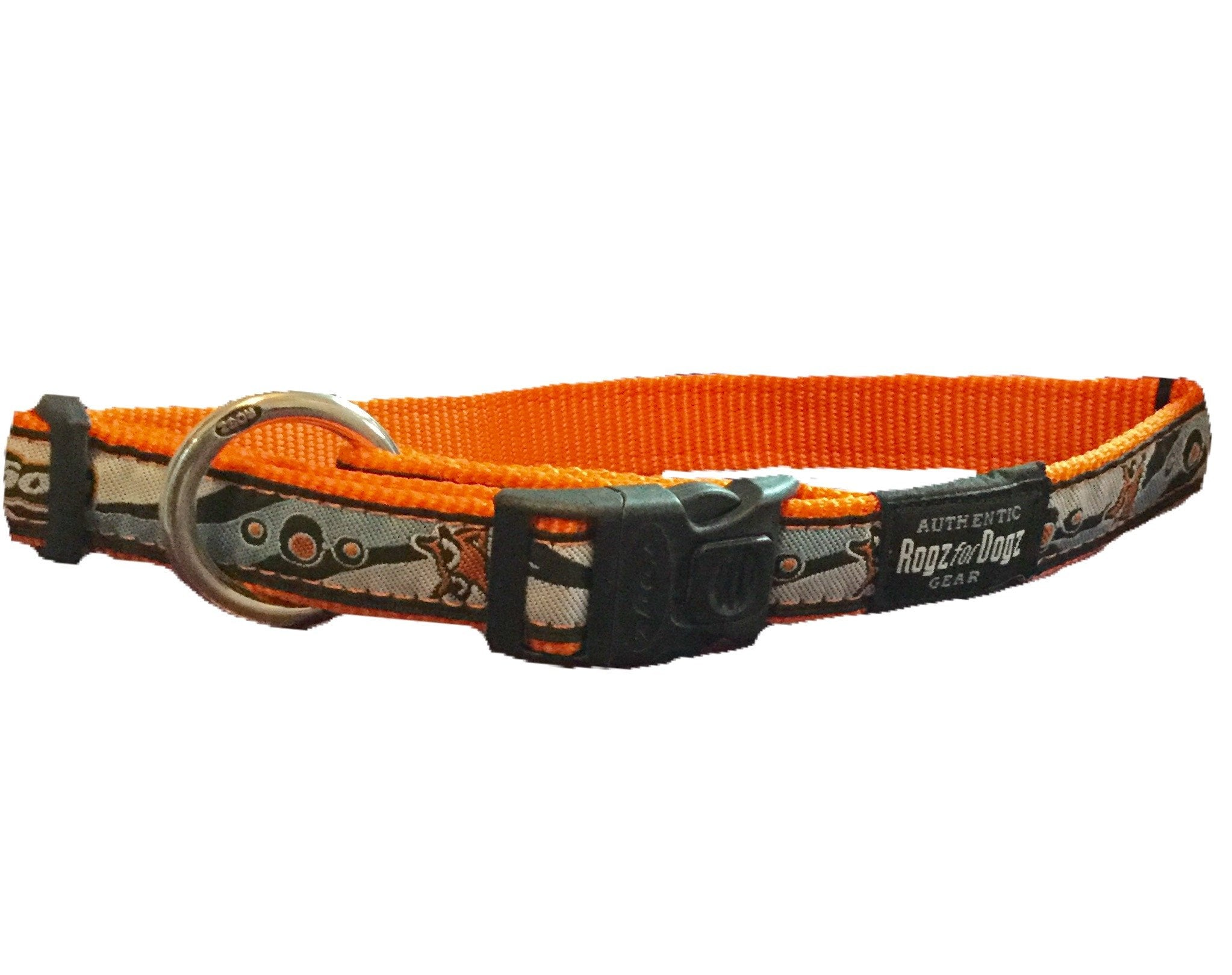 rogz armed response collar funky retro extra large