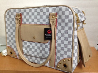 Mode Pour Chien - Black & White Checkered Design - Pet Carrier