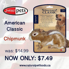 Jakks Chipmunk dog toy