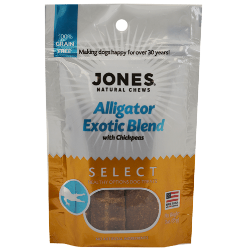 Jones Natural Chews Alligator Exotic Blend 3oz