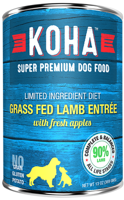 KOHA - Limited Ingredient Diet - Canned Dog Food - Grass Fed Lamb Entree