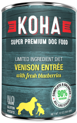 KOHA - Limited Ingredient Diet - Canned Dog Food - Venison Entree