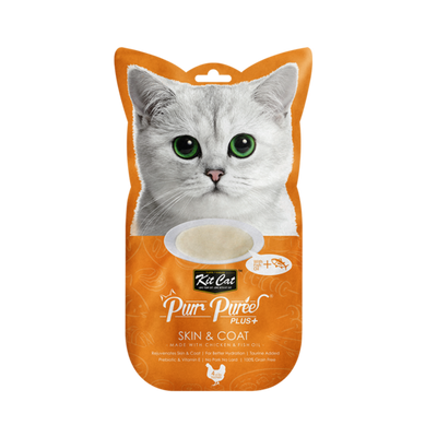 Kit Cat Purr Puree Skin & Coat 4 X 15g Sachet