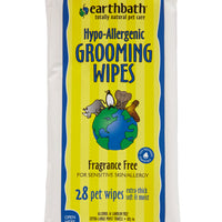 Earthbath - Grooming Wipes with Awapuhi, Hypo-allergenic, Fragrance Free