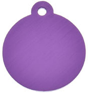 ID Tag - Large Purple Circle