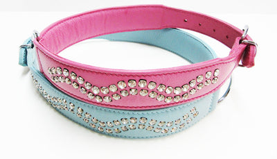 Canadian Classic - Leather Rhinestone Collars for Large Breeds