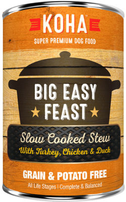 KOHA  - Slow Cooked Stew - Canned Dog Food - Big Easy Feast