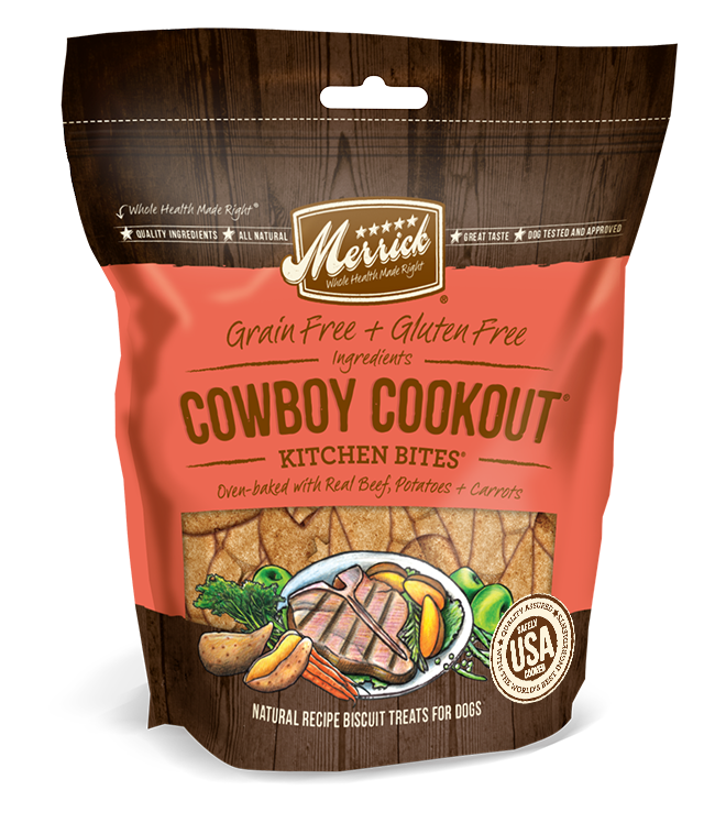 Merrick - Kitchen Bites Dog Treats - Cowboy Cookout