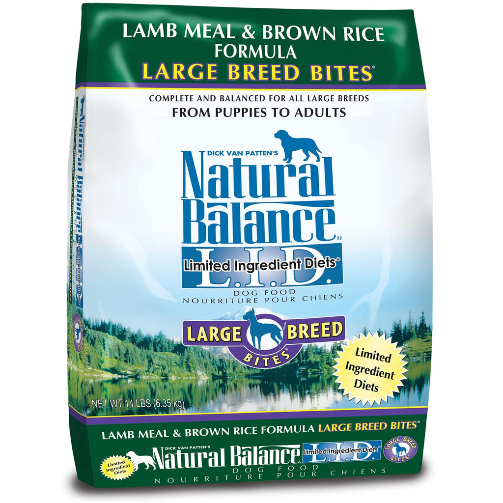 Natural Balance Dry Food - Lamb & Rice Large Breed Bites