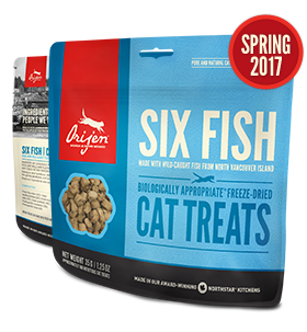 Orijen - Freeze Dried Cat Treats - Six Fish 1.25oz