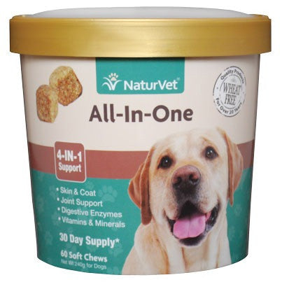 NaturVet - All in One - 4 in 1 Support - 60 Soft Chews