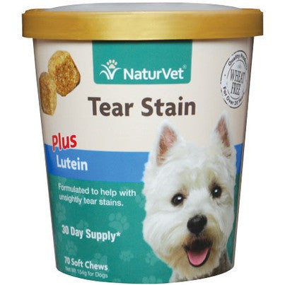 NaturVet - Tear Stain Supplement Soft Chews 70ct