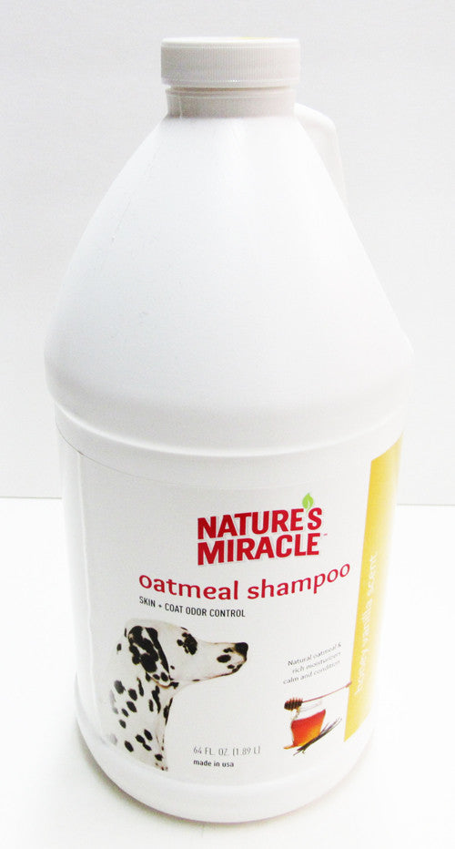 Nature's Miracle - Oatmeal Shampoo - Skin + Coat Odor Control - Honey Vanilla Scent - 64 oz
