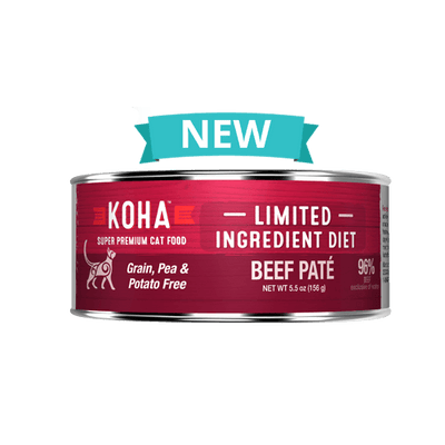 KOHA L.I.D Beef Pate for Cats 3oz