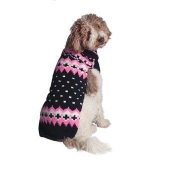 Chilly Dog Sweater - Navy & Pink Alpine - SALE