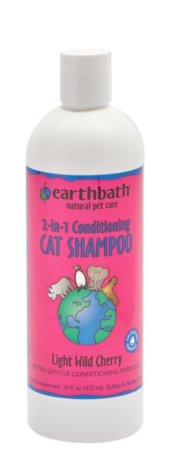 Earthbath - 2-in-1 Conditioning Cat Shampoo - Light Wild Cherry