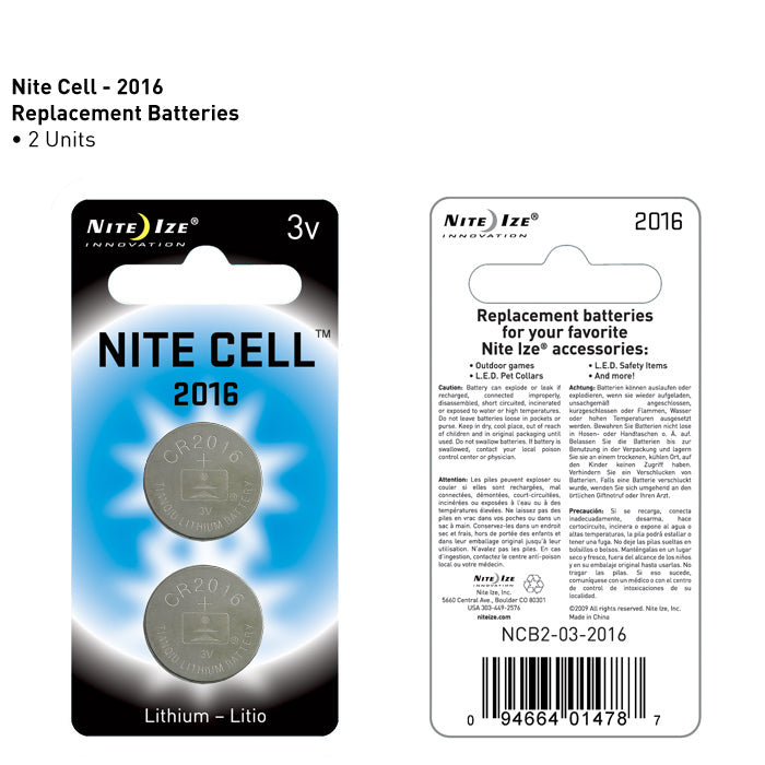 Nite Ize - Nite Cell 2016 - Lithium Replacement Batteries 2 Pack