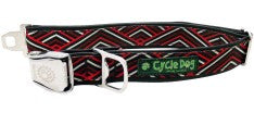 Earth Friendly Cycle Dog Red Black Diagonals Collar