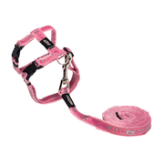 ROGZ SPARKLECAT HARNESS & LEAD SET - PINK Small