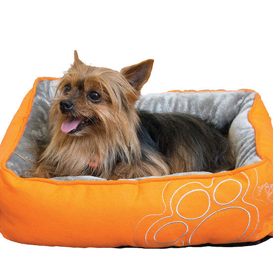 Rogz Luna Podz Reversible Bed in Orange Paw (Small) SALE
