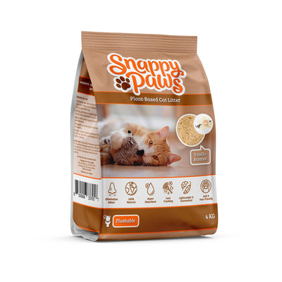 Snappy Paws Plant Based cat litter Vanilla