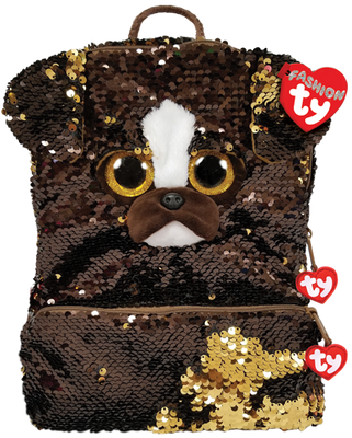 Ty Beanie Sequin Backpack Brutus