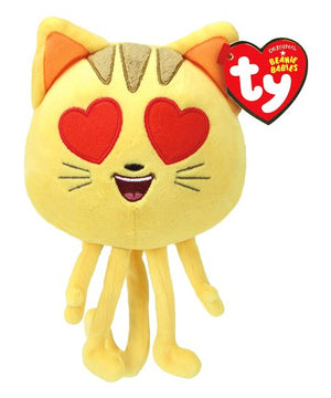 TY Beanie Cat with Heart Eyes 6""