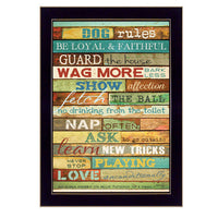 Framed Wall Art - Dog Rules