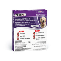 ZODIAC® POWER BAND® PLUS II DUAL ACTION FLEA & TICK COLLAR FOR DOGS & PUPPIES – WITH PRECOR® INSECT GROWTH REGULATOR
